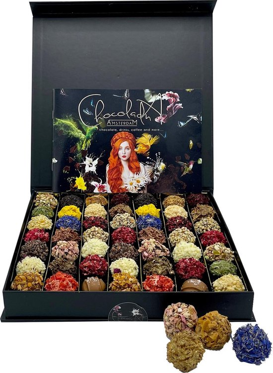 ChocolaDNA - Extra grote chocolade geschenkdoos met handgemaakte, kleurrijke...