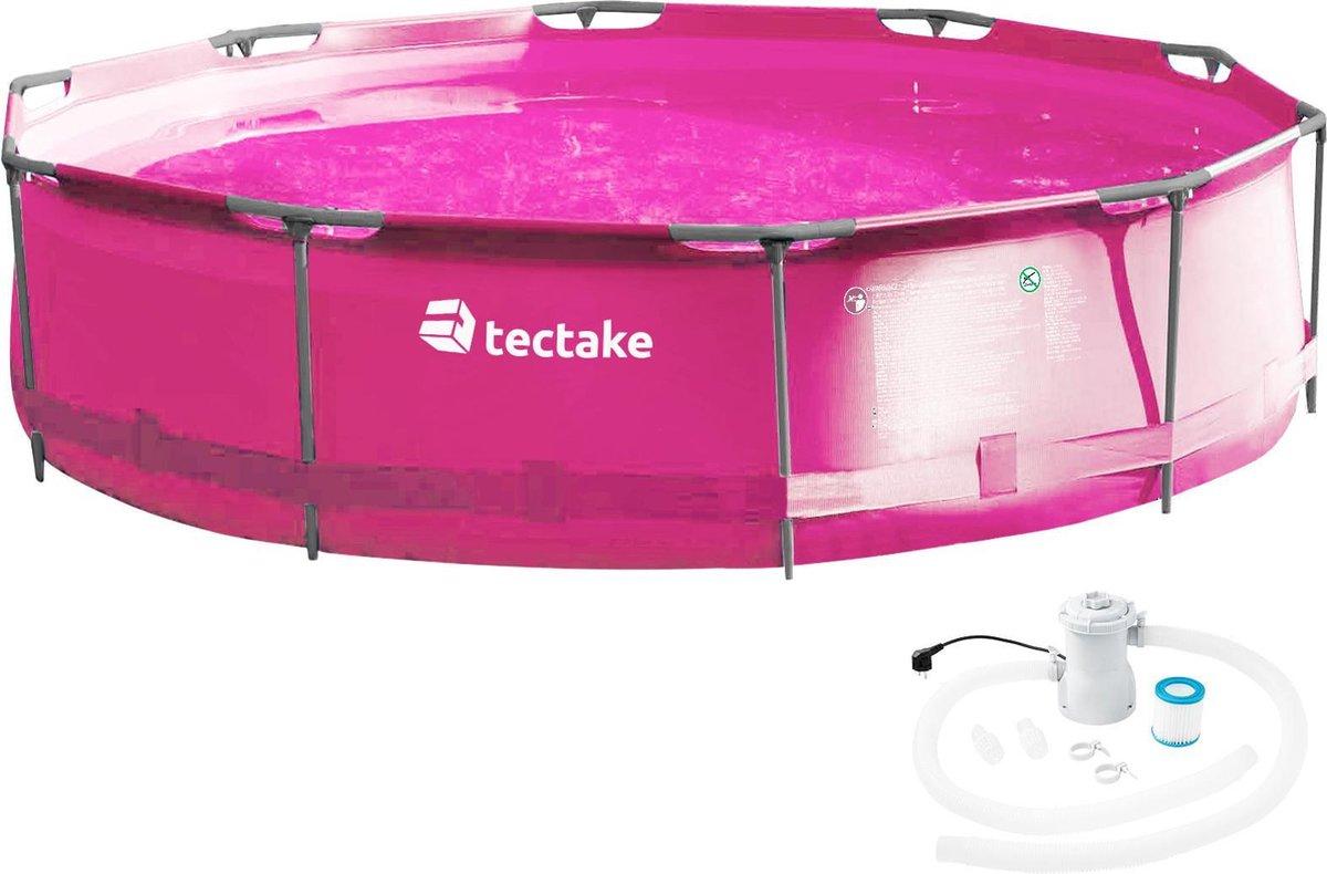 tectake - Zwembad - Swimming pool rond met filterpomp Ø 360 x 76 cm - 403824