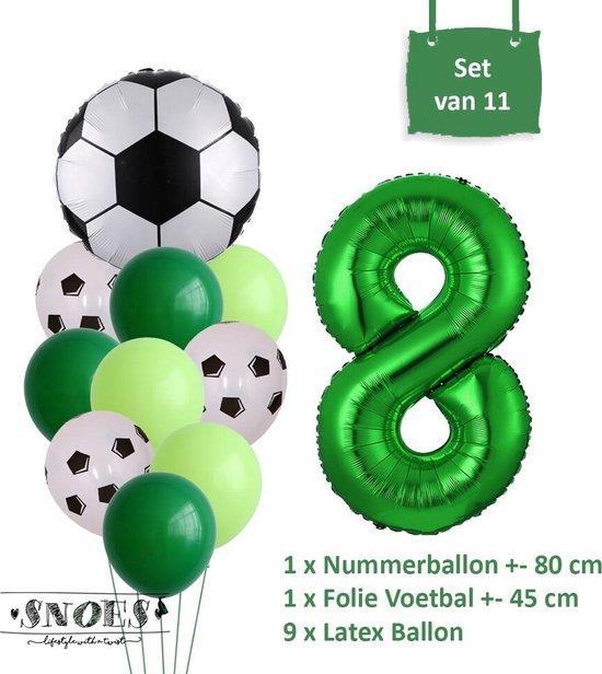Voetbal Verjaardag * Ballonnen Set 8 Jaar * Hoera 8 Jaar * Jarig Voetbal * Voetbal Fan * Snoes * 80 CM * Voetbal Versiering * Birthday