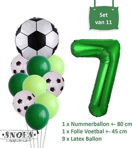 Voetbal Verjaardag * Ballonnen Set 7 Jaar * Hoera 7 Jaar * Jarig Voetbal * Voetbal Fan * Snoes * 80 CM * Voetbal Versiering * Birthday
