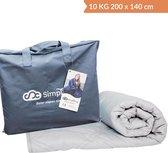 Verzwaringsdeken Katoen 10 KG Weighted Blanket – Nieuwste Generatie Verzwaarde Dekens – 200 x 140
