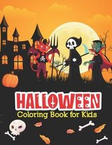 Halloween Coloring Book For Kids: Kids Spooky Halloween Book. Children Coloring Workbooks for Kids