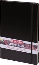 Afbeelding van Talens Art Creation schetsboek - zwart - gebonden - wit papier speelgoed