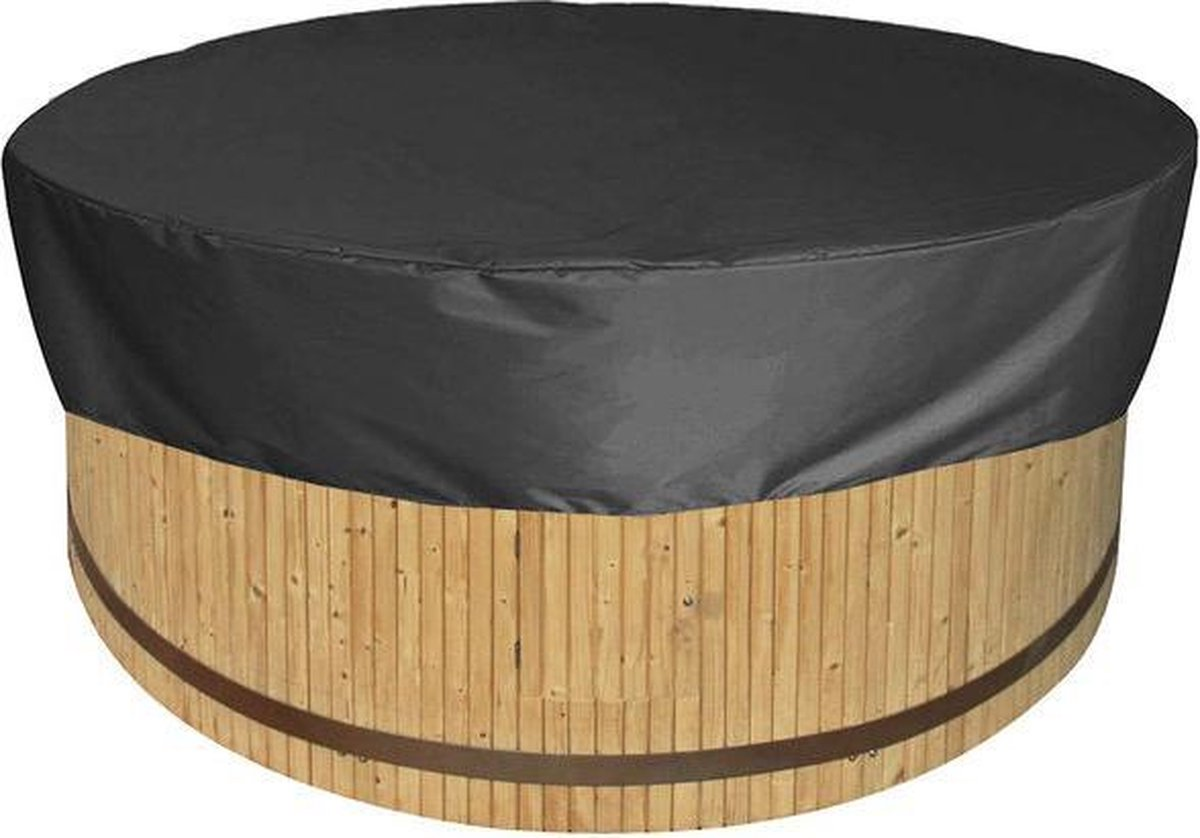 Jacuzzi / Hottub Beschermhoes Rond - 200 x 30 cm - Zwart