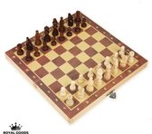 ROYAL GOODS Internationaal schaakbord - Schaken - Schaakspel - Schaakset - Houten schaakbord met schaakstukken - Chess board - Chess - Chess set