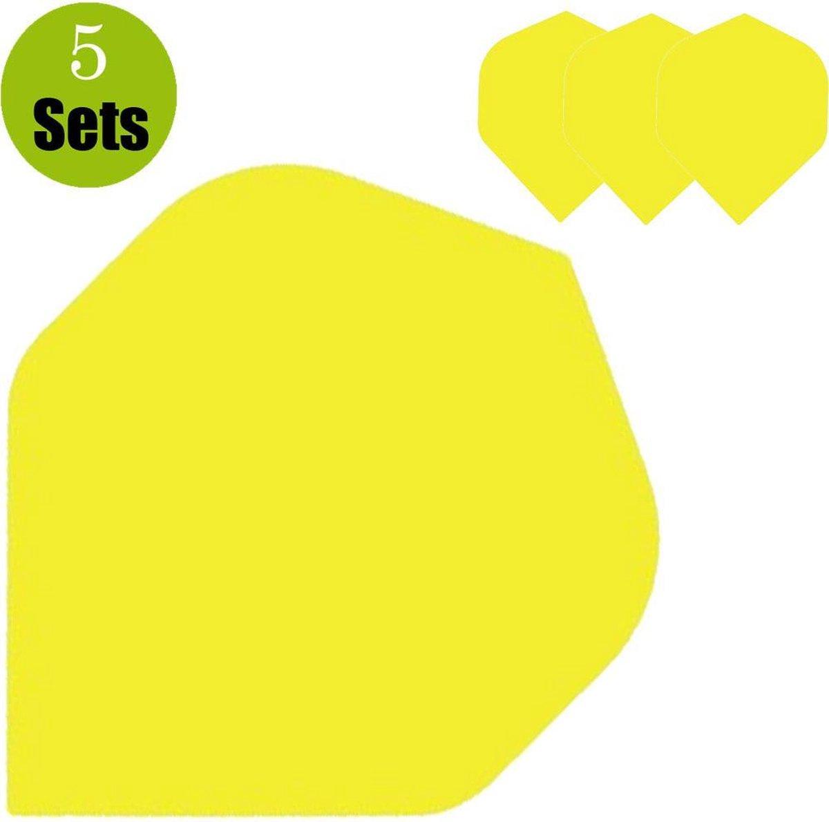 Poly Plain Dartflights - Geel- (5 Sets)
