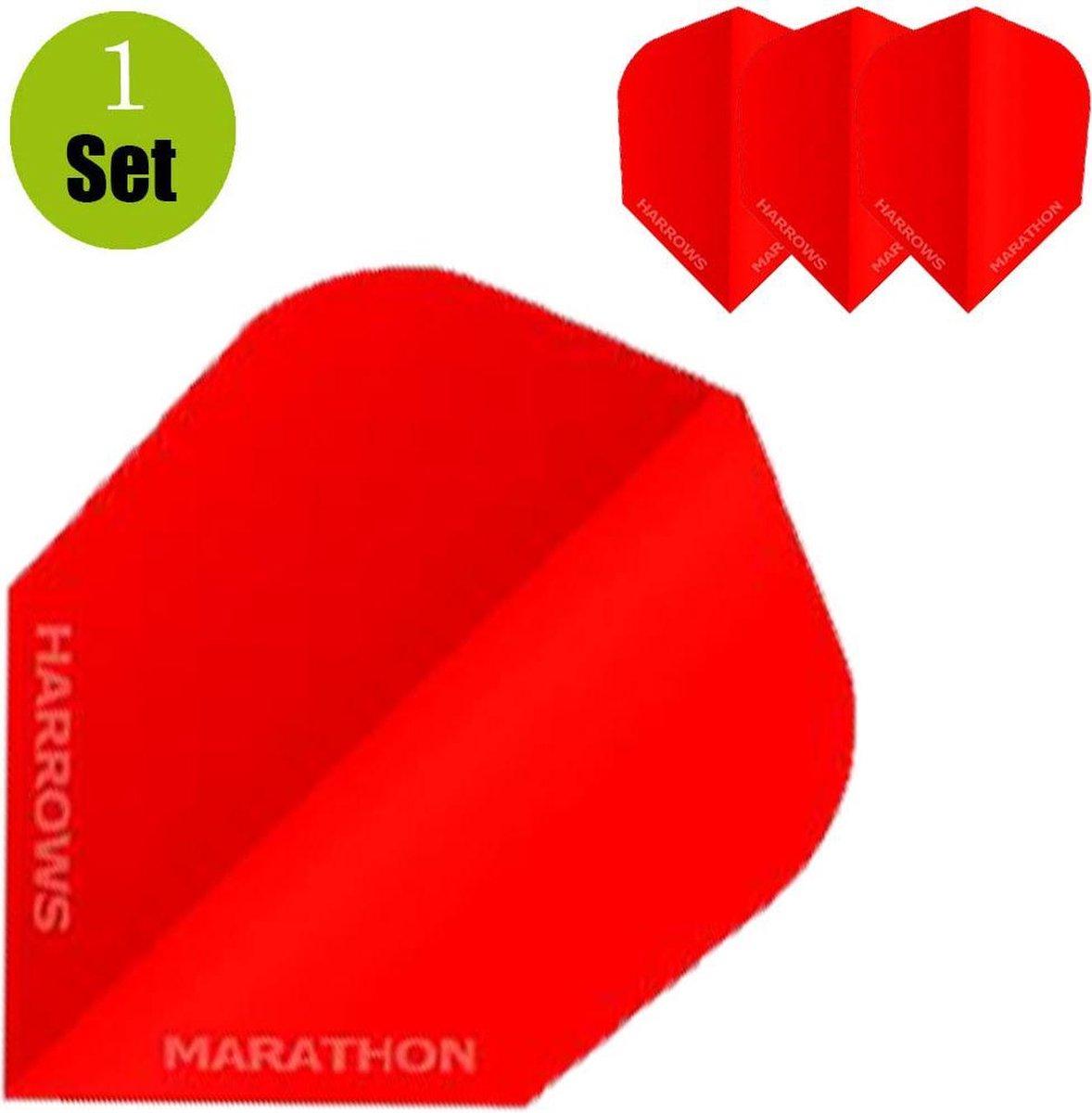 Harrows Marathon Dartflights - Rood- ()