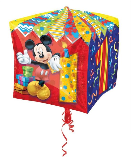 Cubez Mickey Mouse 1 Jaar Folieballon