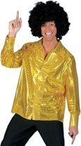 Gouden pailletten blouse heren 56-58 (2xl/3xl)
