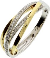 The Jewelry Collection Ring Diamant 0.19ct H Si - Bicolor Goud