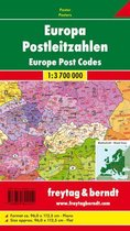 Europe Post Codes Map Flat in a Tube 1