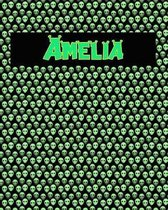 120 Page Handwriting Practice Book with Green Alien Cover Amelia