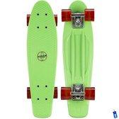 Penny Board Plastic Skateboard Retro - Met LED wieltjes - 57 cm - Groen
