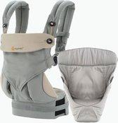 Ergobaby 360 Four Positions geboortepakket - Draagzak Baby inclusief Verkleinkussen - Grey