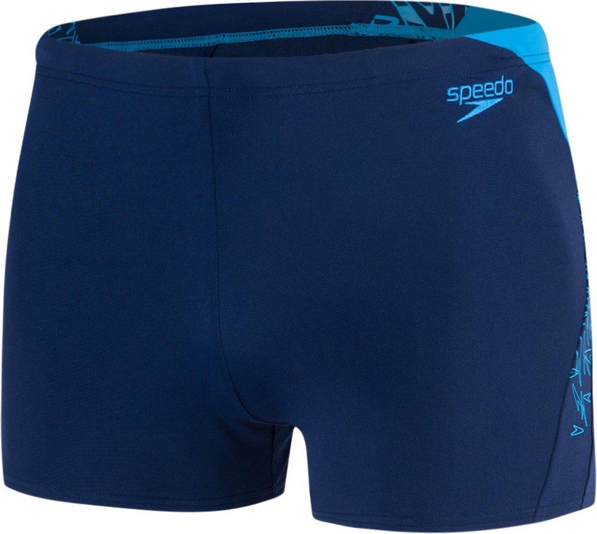 Speedo Endurance Boom Splice Aquashort Heren Zwembroek - Marine-Blauw - 7 - Speedo