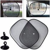 Zonwering / Zonnescherm Auto - 4 Stuks |  UV Protectie | 4 Stuks Autozonwering Voor Autoraam / Zijruit | Tegen Zon