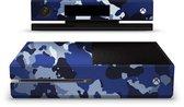 Xbox One S Console Skin Camouflage Blauw Sticker