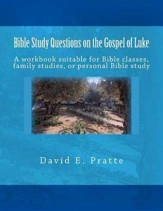 Boek cover Bible Study Questions on the Gospel of Luke van David E Pratte (Paperback)