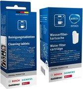 Bosch TCZ7003 / Siemens TZ70003 Brita Intenza waterfilter + Bosch/Siemens Reinigingstabletten