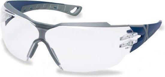 Uvex Pheos CX2 Airsoft Veiligheidsbril, Blauw/Grijs - Anti-Condens & Krasvast