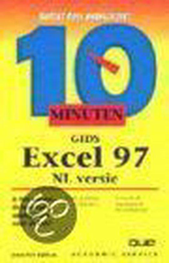 Cover van het boek '10 minuten gids Excel 97 / NL versie' van Jennifer Fulton