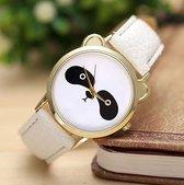 Wit horloge met panda