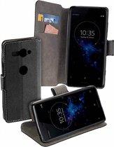 MP case Zwart bookcase style Sony Xperia XZ2 Compact wallet case hoesje
