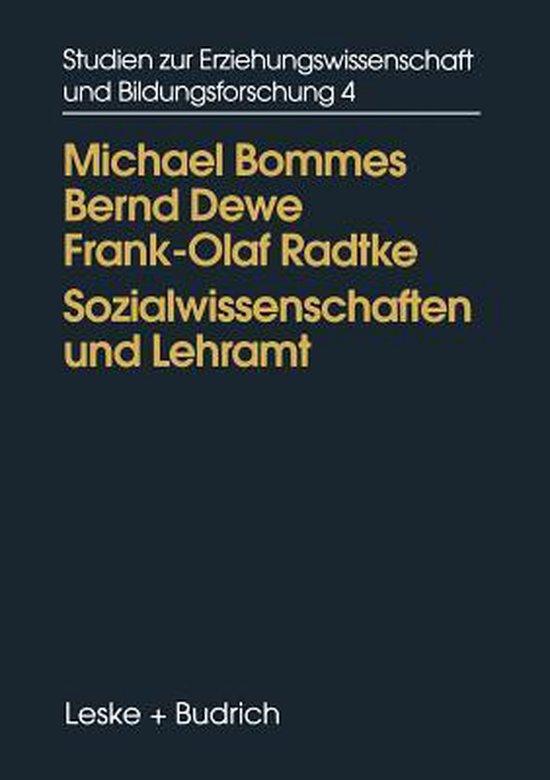 Boek cover Sozialwissenschaften Und Lehramt van  (Paperback)