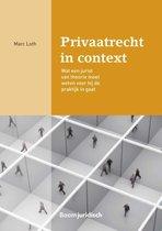 Boek cover Boom Juridische studieboeken  -   Privaatrecht in context van Marc Loth (Paperback)