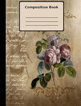 Rose Grunge Composition Notebook, College Ruled