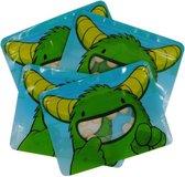Nom Nom Kids grote herbruikbare snackzakjes, set van 4  groen monsters