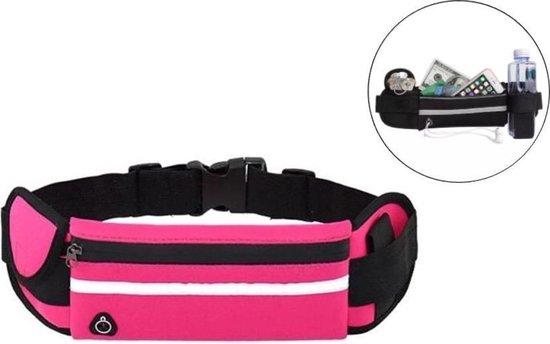 Heuptasje sport – running belt – hardloop heuptas - verstelbare buideltas - roze