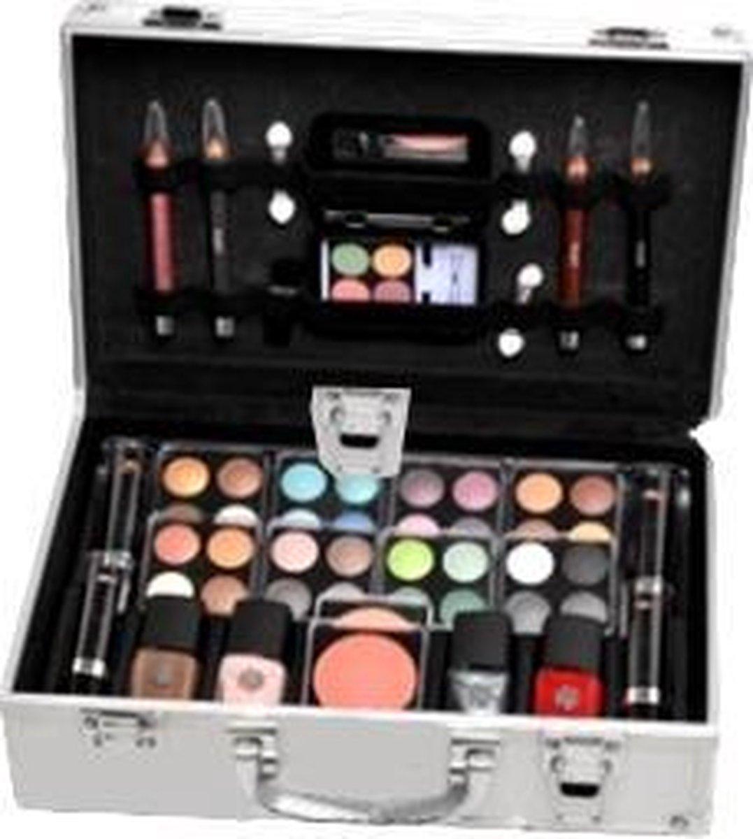 Briconti Make-up Koffer In Aluminium Design, 51-delig