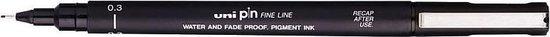 Uni Pin Fine Liner - 0.3mm zwarte schetspen