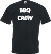 Mijncadeautje Unisex T-shirt zwart (maat L) BBQ Crew