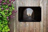 De oude stad van Jeruzalem in Azië vanuit de straten Tuinposter 60x40 cm - klein - Tuindoek / Buitencanvas / Schilderijen voor buiten (tuin decoratie)