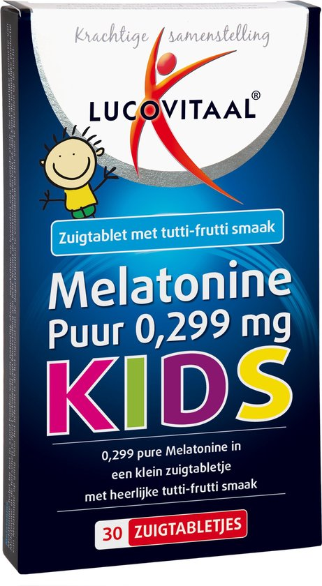 Lucovitaal Melatonine Puur Kids 0,299 milligram Voedingssupplement - 30 tabletten