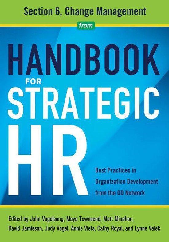 Boek cover Handbook for Strategic HR - Section 6 van Od Network (Onbekend)