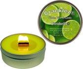 4 stuks Cracklez® Knetter Houten Lont Citronella Kaarsen in blik. Lime. Aromatherapie.