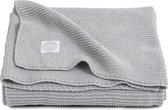 Jollein Deken Basic knit  - licht grijs -  100x150