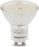 Groenovatie LED Spot GU10 Fitting - 5W - SMD - 52x50 mm - Dimbaar - Koel Wit