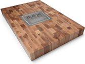 Butler Hakblok - kopsbeukenhout - 60 x 40 x 6 cm - Bruin