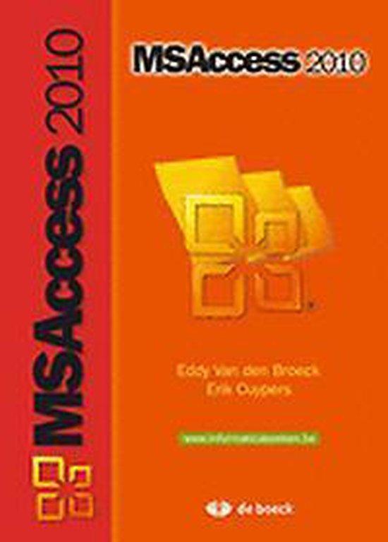 Ms access 2010 - Eddy Van den Broeck  