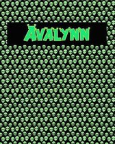 120 Page Handwriting Practice Book with Green Alien Cover Avalynn