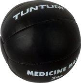 Tunturi Medicine Ball - Crossfit Ball - Medicijnbal - 3 kg - Zwart Leer