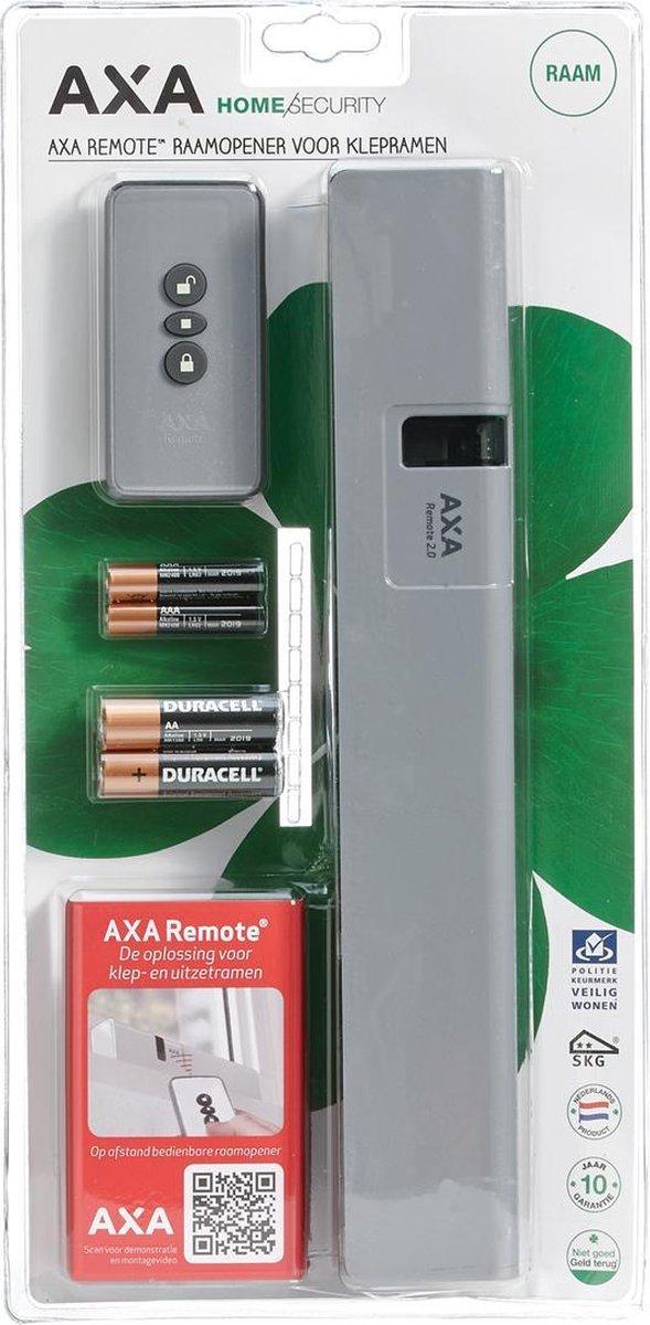 AXA Remote 2.0 Raamopener met afstandsbediening - Voor klepraam/bovenlicht - SKG** - Grijs - In cons