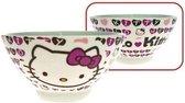Hello Kitty mueslikom hoofd- en hartjesprint