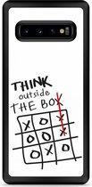 Galaxy S10 Hardcase hoesje Think outside the Box