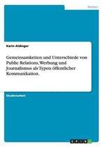 Gemeinsamkeiten Und Unterschiede Von Public Relations, Werbung Und Journalismus ALS Typen ffentlicher Kommunikation.