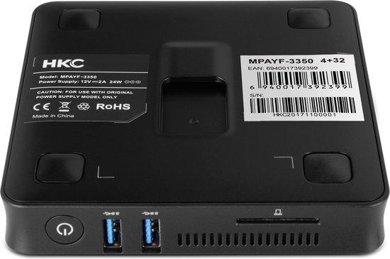 HKC MPCYF-3350 Mini PC Win 10, 4GB RAM 32GB SSD Intel Apollo Lake N3350 - HKC